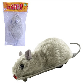 Rato De Plastico Pelucia A Friccao Na Solapa