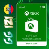 Xbox Gift Card $30 - Tarjeta De Regalo Xbox - Digital Code