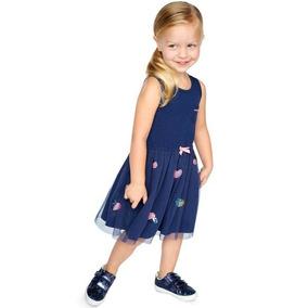 Vestido Carter´s Marino Tul Corazones Niña 2 A 5 Años
