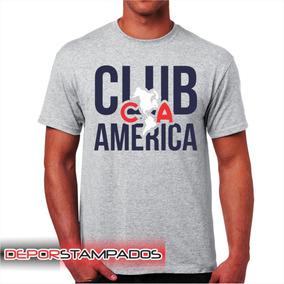 Playera Gris Club America en Mercado Libre México 14238a3d5a2b7
