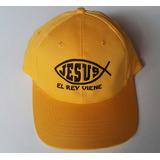Gorros Amarillos Bordados Jesús El Rey Viene Hilo Negro 2e5238605da