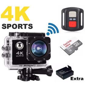 Câmera Com Controle Sport Cartão 32gb + Bat Extra