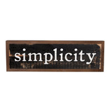 Simplicity Bold Black Distressed 25 X 8 Inch Solid Pine Woo