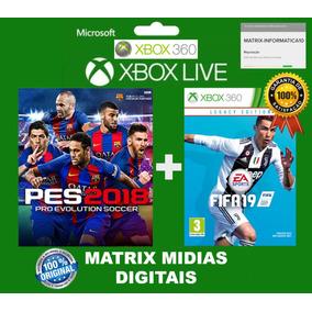 Fifa 19 + Pes 18 Xbox 360 Original-mídia Digital Kit 2 Jogos