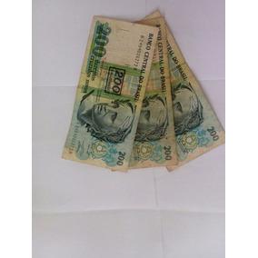 3 Notas Cédulas 200 Cruzeiros