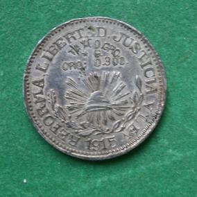 f40e5077d38a 1915 1 Peso Taxco En Plata Moneda Revolucion Alta Cond.