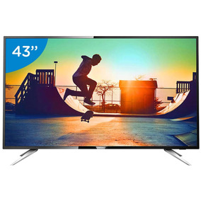Smart Tv Led 43 Philips 4k Ultra Hd Placa Wifi 4 Hdmi 2 Usb