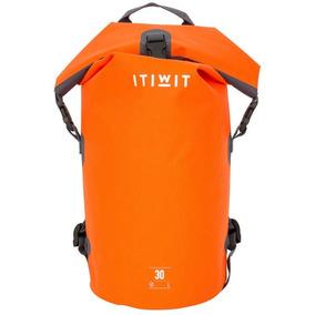 Bolsa Mochila Marinera Impermeable De 30 L Naranja Itwin