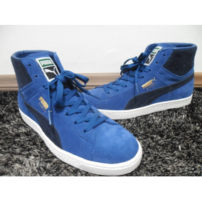 b0337bf393 Tênis Puma Masculino Suede Mid Classic + Azul