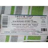 Entrada Campo Para Hoy Green Day!!!!!