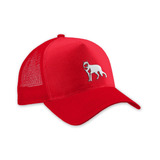 Trucker Cap Lobo Branco Vip Red