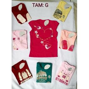 Kit Com 50 Blusas Feminina Infantil 8 Meses A 12 Anos