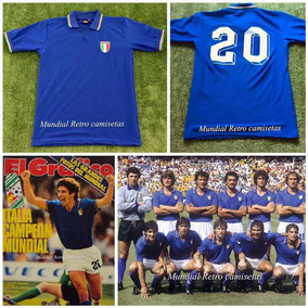 1c144f4555 Camiseta Retro Selección Italia Campeona Mundial España 1982