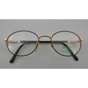 Óculos  receituário Metal Oval  vintage  benetton F1 3600ov e9ff7741d8