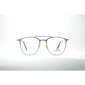 f16daae4124be Armação Óculos Feminino Metal Redondo Elegante Style Phantom