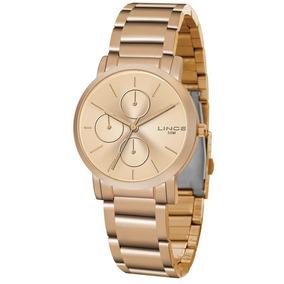 adea51c68aa Relógio Feminino Multifunção Gold Rose Lince - Relógios no Mercado ...