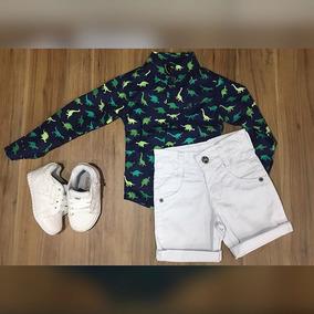 Conjunto Infantil Camisa Social Bermuda