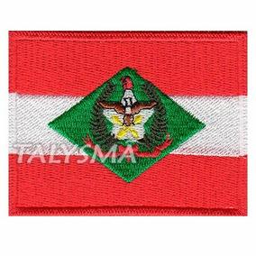 Bordado Patch Termocolante Bandeira Santa Catarina Bd50098