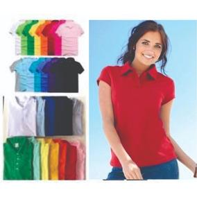 e315533038 Kit 3 Camisas Polo Feminina Lisa Sem Estampa. 5 cores
