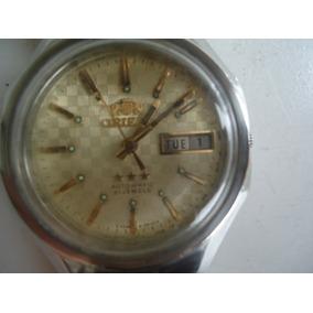 21b4ffe9bbe Relógio Orient Automático Antigo Raríssimo Beje Perfeito