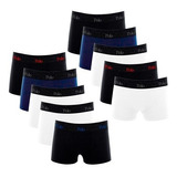 Kit Com 10 Cuecas Boxer De Cotton 4.0 - Polo Match