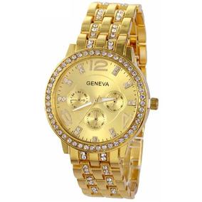 aac863e6e8b Relógio Geneva Com Strass Produto Importado - Relógios De Pulso no ...