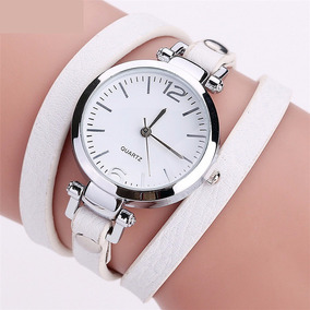 Relógio Pulseira Retro Vintage Em Couro Feminino 2116