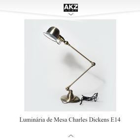 Luminária De Mesa Charles Dickens E14