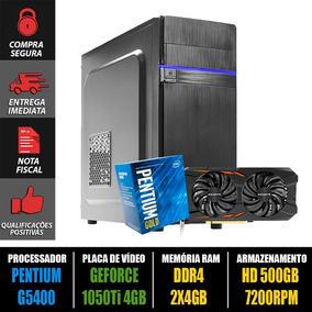 Computador Gamer Pentium G5400 + Gtx 1050ti + 8gb Ddr4 + Nf