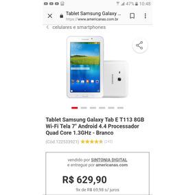 Tablet Samsung Tab E Branco Wifi 7 Pouco Tempo De Uso