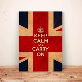Pôster Retrô Keep Calm Inglaterra Placa Rígida A3 #pvt122a0