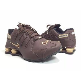 95142beb67c Nike Shox 2 Molas Estilo Sapatênis Marrom Com Caramelo - Tênis no ...
