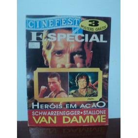 Revista Poster Cinefest - Sylvester Stallone , Van Damme