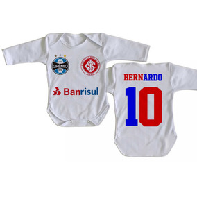 e9fad490ff Body Infantil Roupa Bebê Criança Nome Inter Grêmio Grenal. R  30