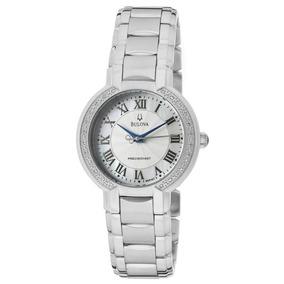 feb7044ca85 Relógio Bulova Feminino Wb27618q Precisionist Prat. Diamante