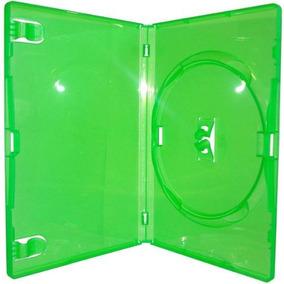 10 Estojo Capa Box Verde Para Dvd Xbox360 Filme Cd Amaray