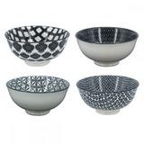 Conjunto De Bowls Pequenos Preto E Branco