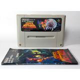 Super Metroid Super Famicom Nintendo Snes & Manual