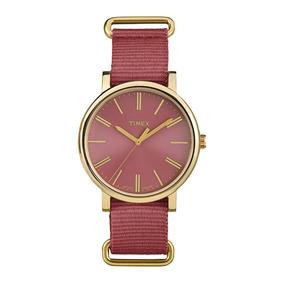 Relógio Timex Weekender Tw2p78200ww/n Vermelho E Dourado