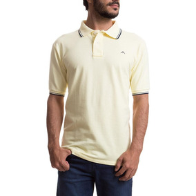 a31cde3665 Camisa Polo Colombo Masculina Amarela Lisa Upper por Camisaria Colombo