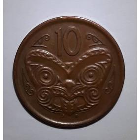 L 072; Moeda 10 Cêntimos Elizabeth Ii / New Zealand - 2006.