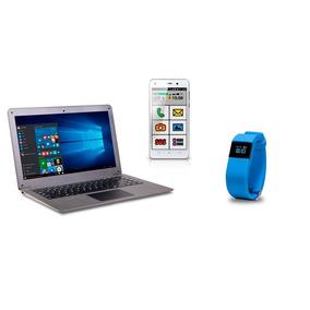Combo Exo - Notebook Cloud E15 + Smartphone 4g + Fitband E10