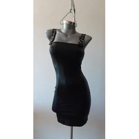 Vestido Vinipiel, Piel, Tipo Piel Negro.