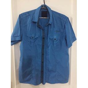 0f9321d81 Camisa De Manga Curta Calvin Klein Masculina Tamanho M Azul