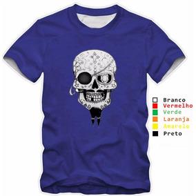 Camisas Caveira Pirata - Camisetas e Blusas no Mercado Livre Brasil ebe976f6d2a