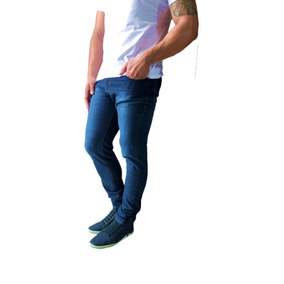 Kit C/ 4 Calça Jeans Sarja Masculina Skinny Lycra Colorida