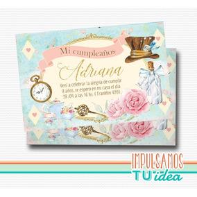 Alicia En El País De Las Maravillas Invitación Para Imprimir