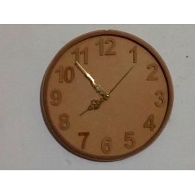 Reloj De Pared Manecillas Sencillo Natural Mdf