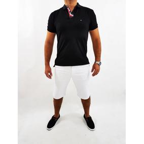 3 Bermuda Plus Size Masculina Slim Com Lycra Do 36 Ao 58