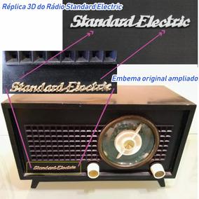 Emblema 3d Rádio Standard Electric